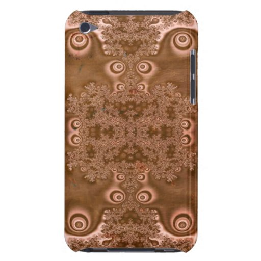 Vintage Style Rusty Brown Metal Fractal Pattern iPod Touch Cases