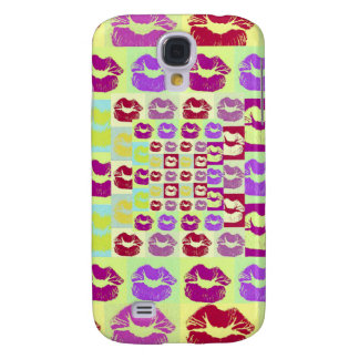 Vintage Style Sassy Lips Galaxy S4 Case