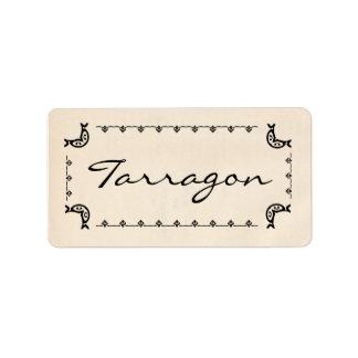 Vintage-Style Tarragon Labels
