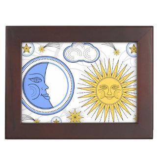 Vintage Sun and Moon Keepsake Box