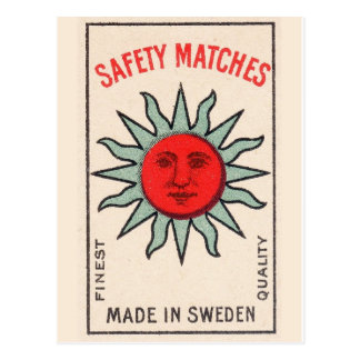 Vintage Sun Graphic Postcard