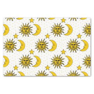 Vintage Sun Moon Stars Pattern Tissue Paper