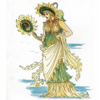 Vintage Sunflower Lady Acrylic Cut Out