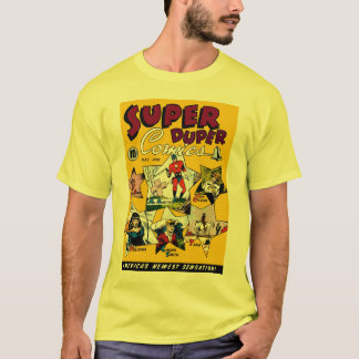 Vintage Super Hero Comic Cartoon Art T-Shirt