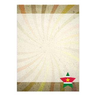 Vintage Surinamer Flag Swirl 13 Cm X 18 Cm Invitation Card