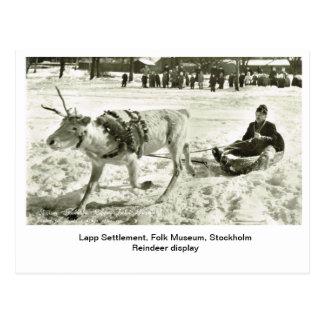 Vintage Sweden, Lapp Settlement, Folk Museum, Postcard
