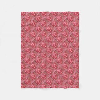 Vintage Swirls Floral Roses Fleece Blanket