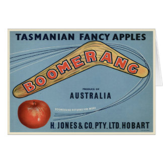 Vintage Tasmanian Crate Label Print Card