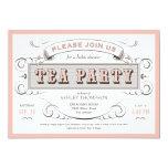 Vintage Tea Party Invitations 13 Cm X 18 Cm Invitation Card