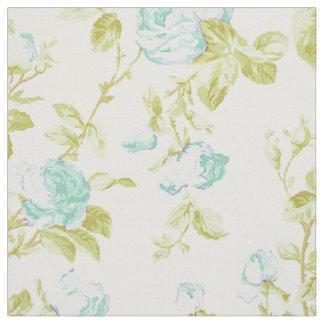 Vintage teal floral pattern fabric