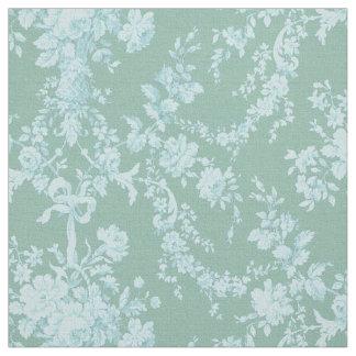 Vintage teal pattern fabric