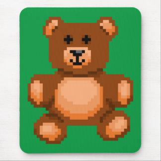 Vintage Teddy Bear - Pixel Art Mouse Pad