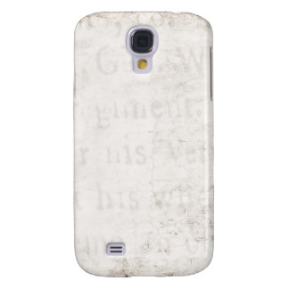 Vintage Text 1700 Background Paper Template Blank Galaxy S4 Case