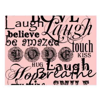 Vintage Text Life Advice Apparel and Gifts Postcard