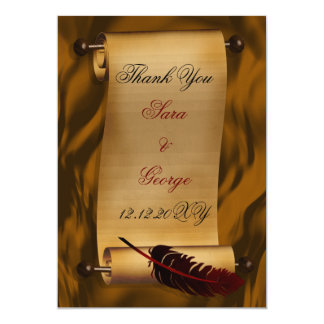 "vintage Thank You Card 5"" X 7"" Invitation Card"