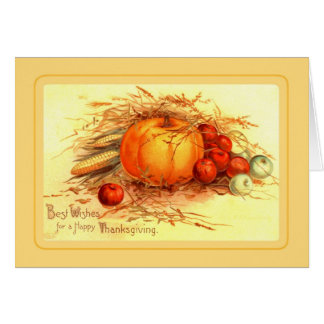 Vintage Thanksgiving Card