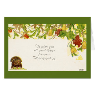 Vintage Thanksgiving Greetings Card
