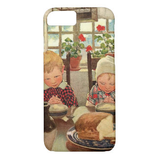 Vintage Thanksgiving, Thankful Children iPhone 8/7 Case