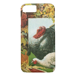 Vintage Thanksgiving, Wild Turkeys Autumn Colors iPhone 8/7 Case