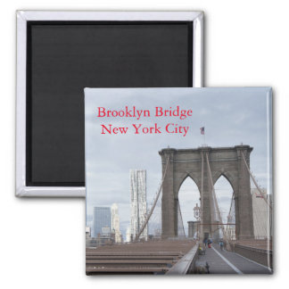 Vintage The Brooklyn Bridge in New York City Magnet
