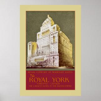 Vintage The Royal York Hotel Toronto Poster