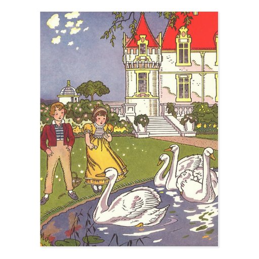 Vintage The Ugly Duckling Fairy Tale by Hauman Post Card