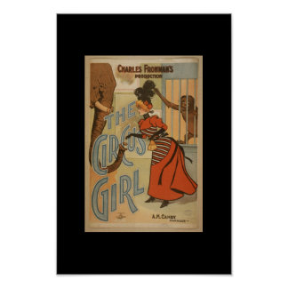 Vintage Theater Posters the Circus Girl