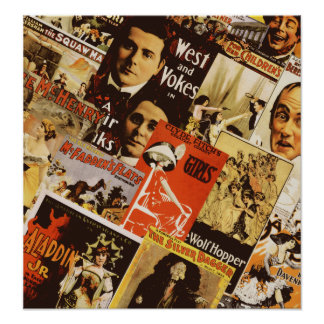 Vintage theatre poster collage