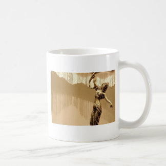 Vintage theme with antique lampshade coffee mug