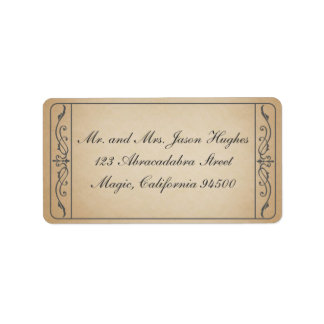 Vintage Ticket Label Address Label