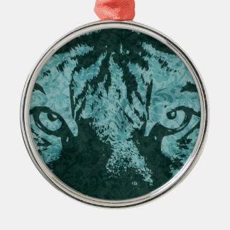 vintage tiger christmas ornament