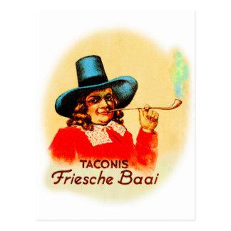 Vintage Tobacco Dutch Smoking Pipe Friesche Baai Postcard