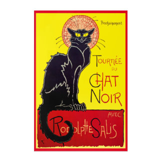Vintage Tournee Chat Noir Cat Acrylic Wall Art
