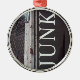 Vintage Tow Truck JUNK SIGN Christmas Ornament