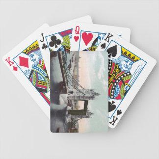 Vintage Tower London Bridge Playing Cards