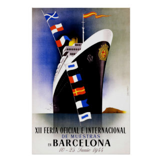 Vintage Trade Fair in Barcelona Poster