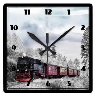 Old Train Wall Clocks Zazzle Co Nz