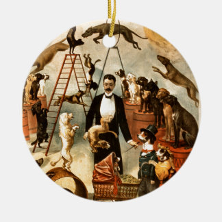 Vintage Trained Circus Dog Act Trick Dogs1899 Ornaments