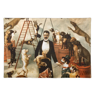 Vintage Trained Circus Dog Act Trick Dogs1899 Place Mat
