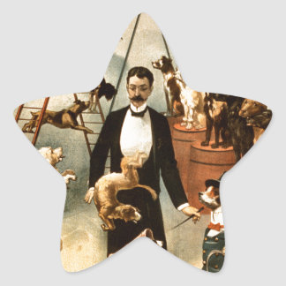 Vintage Trained Circus Dog Act Trick Dogs1899 Sticker