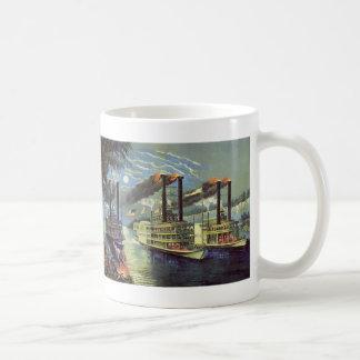 Vintage Transportation and Travel Ships Steamboats Coffee Mug