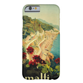 Vintage Travel, Amalfi Italian Coast Beach Barely There iPhone 6 Case