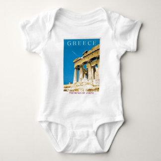 Vintage Travel Athens Greece Parthenon Temple Baby Bodysuit