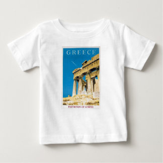 Vintage Travel Athens Greece Parthenon Temple Baby T-Shirt