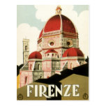 Vintage Travel Florence Firenze Italy Church Duomo Post Cards