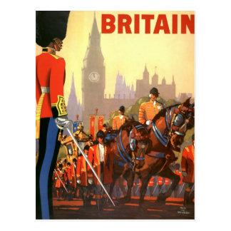 Vintage Travel, Great Britain England, Royal Guard Postcard