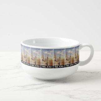 Vintage Travel Milano Milan Italy soup mug