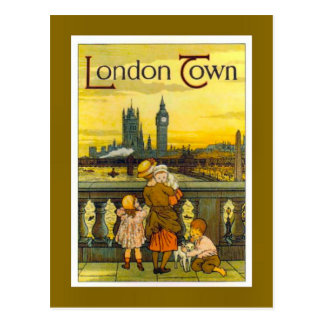 Vintage travel poster, London Town, Post Cards