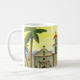 Vintage Travel Poster, Los Angeles, California Coffee Mug