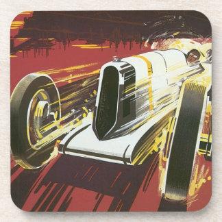 Vintage Travel Poster Monaco Grand Prix Auto Race Coasters
